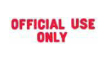 1052 – OFFICIAL USE ONLY Stock Stamp