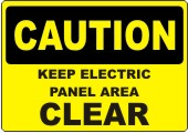 Caution Keep Electric Panel Area Clear safety sign