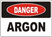 Danger Argon safety sign