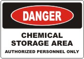 Danger Chemical Storage safety sign