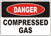 Danger Compressed Gas safety sign