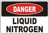 Danger Liquid Nitrogen safety sign