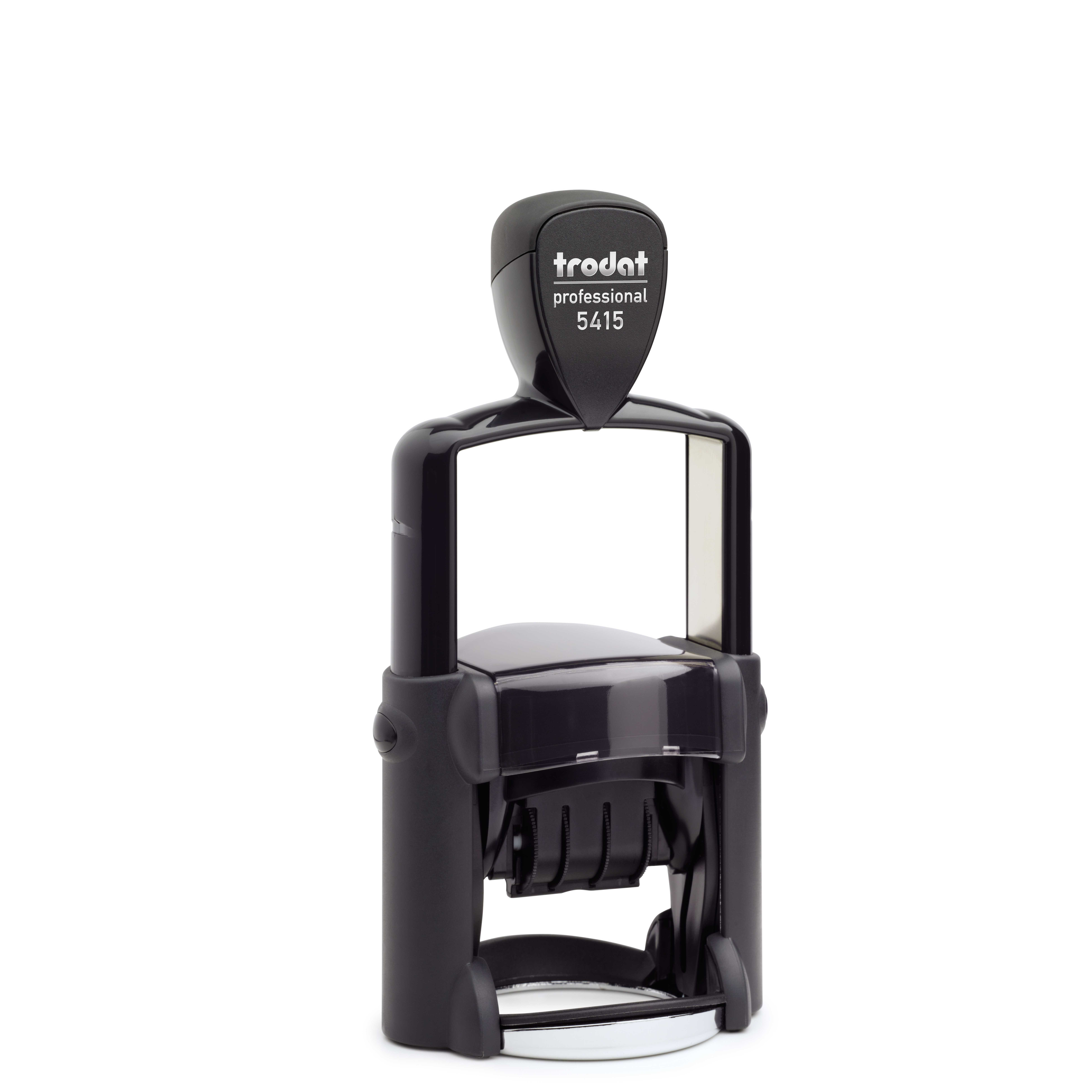 1-3/4″ diameter Trodat Self-Inking Professional Date Stamp