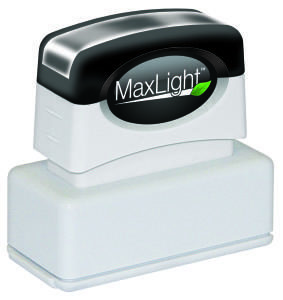 Small MaxLight Pre-Inked Signature Stamp