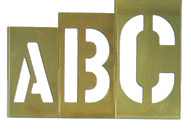 1 1/2″ text 33 Piece Letter Set Brass Interlocking Stencils