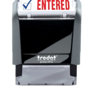 ENTERED 2-Color Trodat Stock Self-Inking Stamp