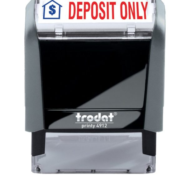 DEPOSIT ONLY 2-Color Trodat Stock Self-Inking Stamp