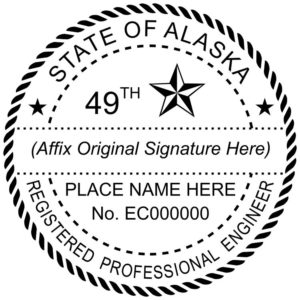 ALASKA Registered Professional Landscape Architect Embosser