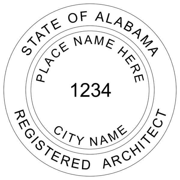 ALABAMA Registered Architect Stamp