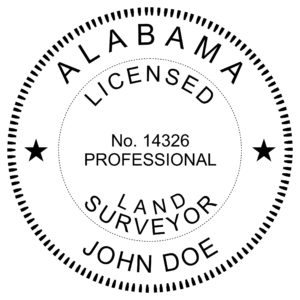 ALABAMA Licensed Land Surveyor Embosser