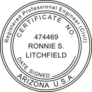 ARIZONA Registered Professional Land Surveyor Stamp