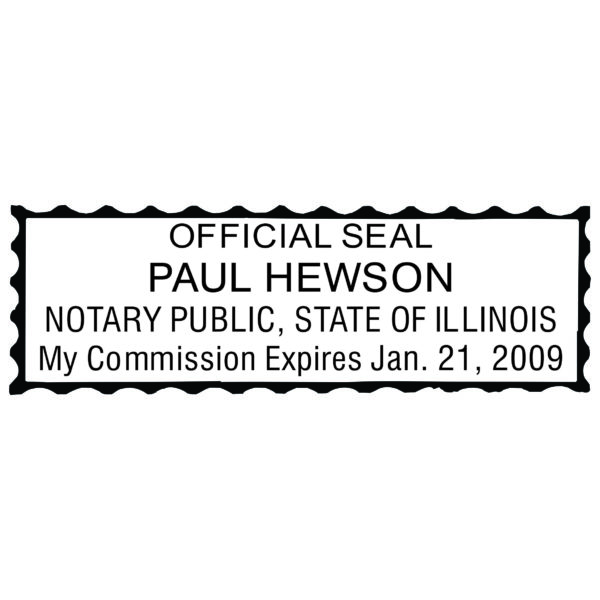 ILLINOIS Notary Stamp