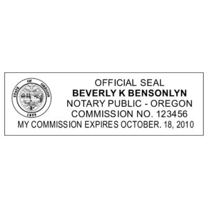 OREGON Notary Stamp