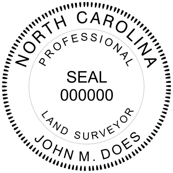 NORTH CAROLINA Professional Engineer Stamp