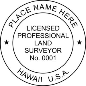HI LandSurveyor 300x300 - HAWAII Licensed Professional Land Surveyor Stamp