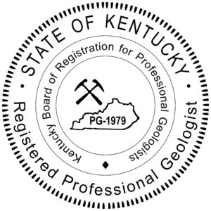 KY Geologist 300x300 - KENTUCKY Registered Professional Geologist Stamp