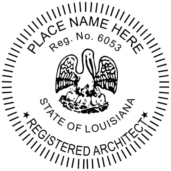 LOUISIANA Registered Architect Stamp