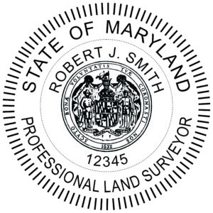MARYLAND Professional Land Surveyor Stamp