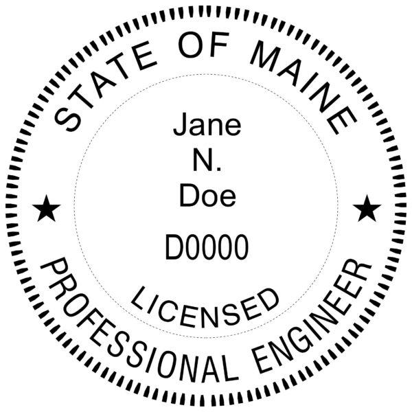 MAINE Licensed Professional Engineer Stamp