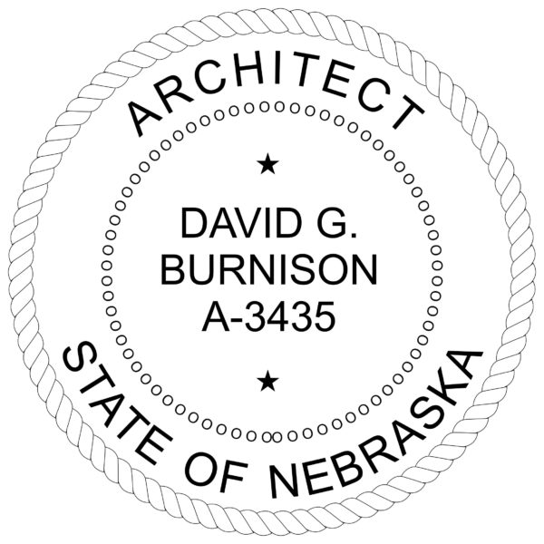 NEBRASKA Architect Stamp