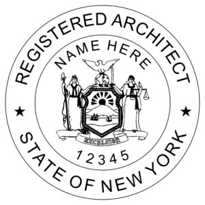 NEW YORK Registered Architect Stamp