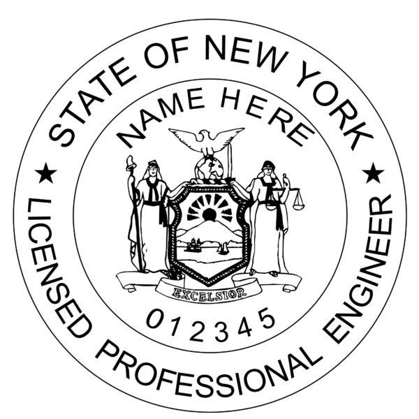 NEW YORK Licensed Professional Engineer Stamp