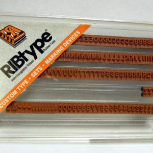 TA14 – 5/16″ RIBTYPE Letter Set