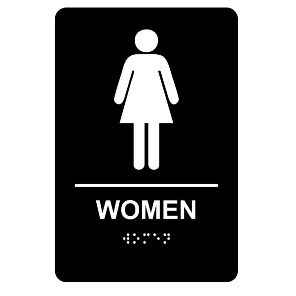 Women – Economy ADA signs with Braille