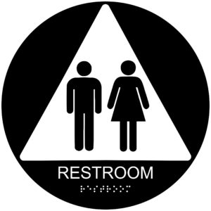 ADA024 Black 300x300 - Restroom - Circular Economy ADA signs with Braille