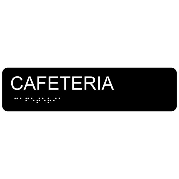 Cafeteria – Economy ADA signs with Braille