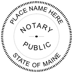 ME Notary 300x300 - Maine Notary Embosser