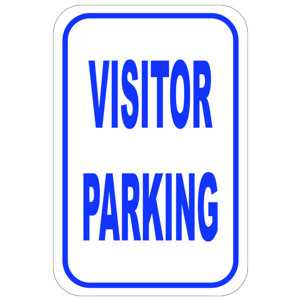 Visitor Parking aluminum sign