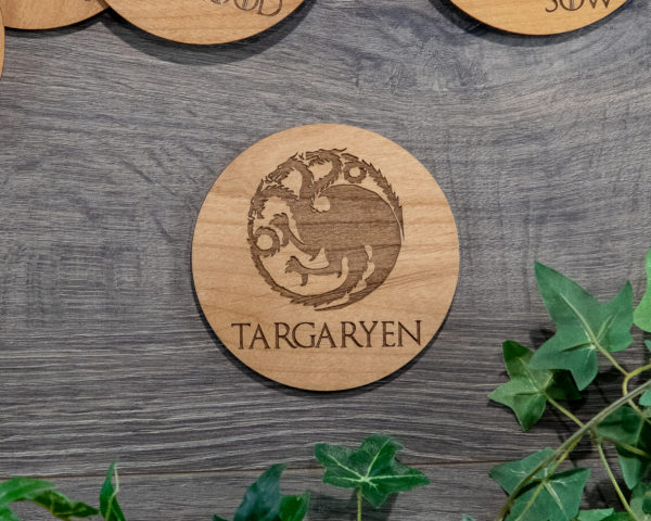 Game of Thrones Wooden Coasters with House Sigils Set of 12