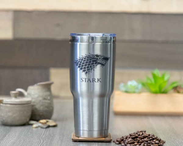 House Stark Game of Thrones Sigil 32 ounce stainless steel insulated tumbler