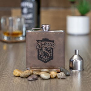 IMG 1995 1 300x300 - Slytherin House 6 ounce leatherette flask with FREE Funnel