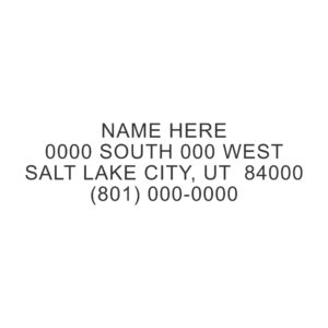 AD002 300x300 - AD002 - Address Stamp