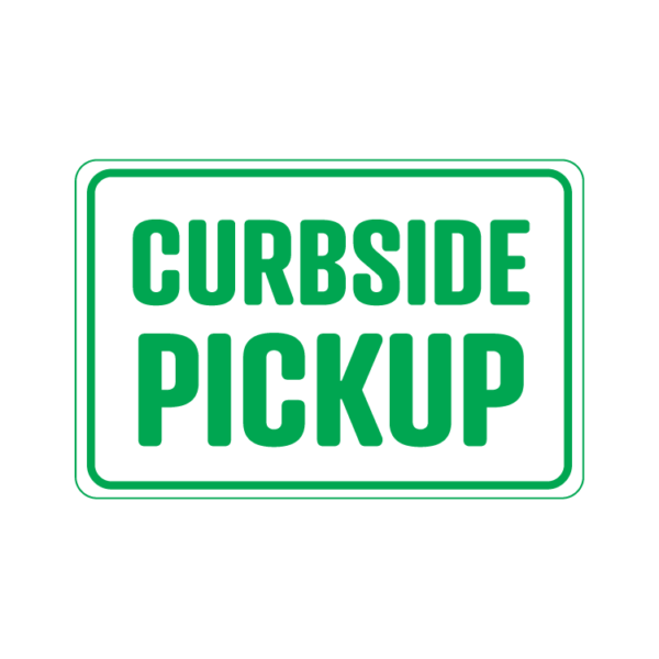 Curbside Pickup landscape 2 temporary sign