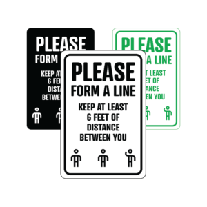 Winmark Form A Line 300x300 - Please Form A Line temporary sign