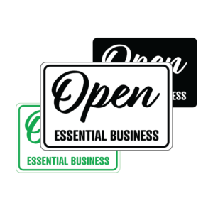 Winmark Open 5 300x300 - Open Essential Business temporary sign