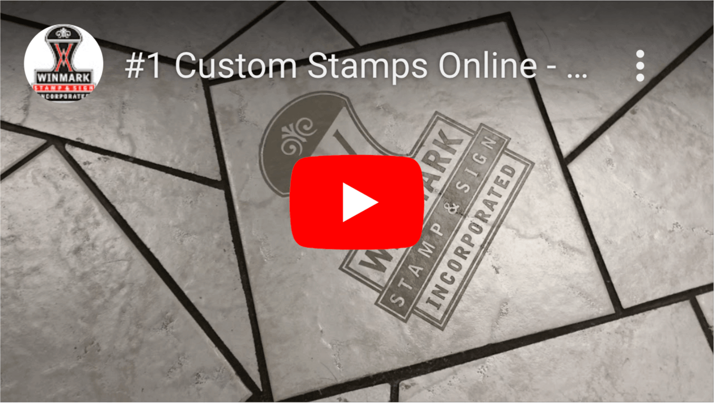 Custom Rubber Stamps from Winmark Stamp and Sign - Watch Video
