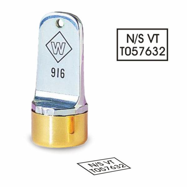 5/8″ Diameter Rectangle Inspection Stamp